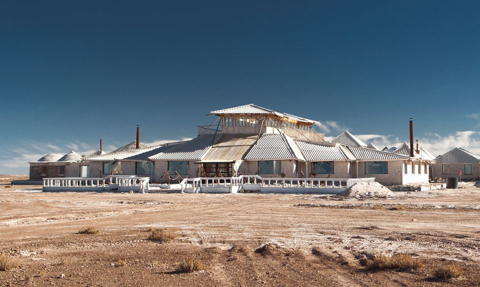 This hotel really is the salt of the earth - it's made from 10,000 tonnes of the white stuff.  A whopping one million blocks