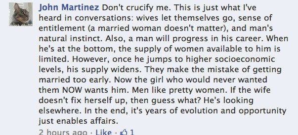 Men who cheat are insecure