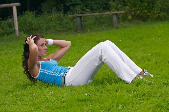 woman exercising outdoor