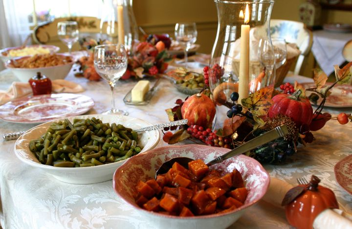 Thanksgiving Holiday Dinner Table