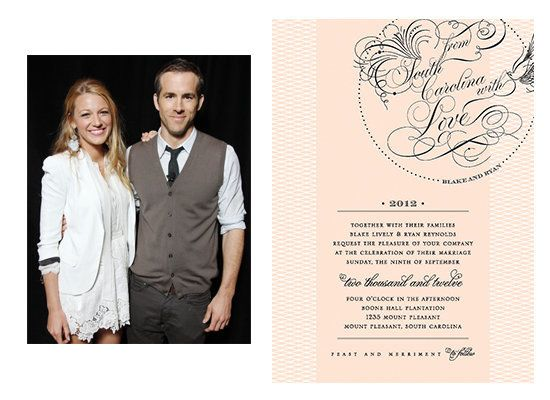 Wedding Invitations For Hollywood S Biggest Stars Huffpost Life