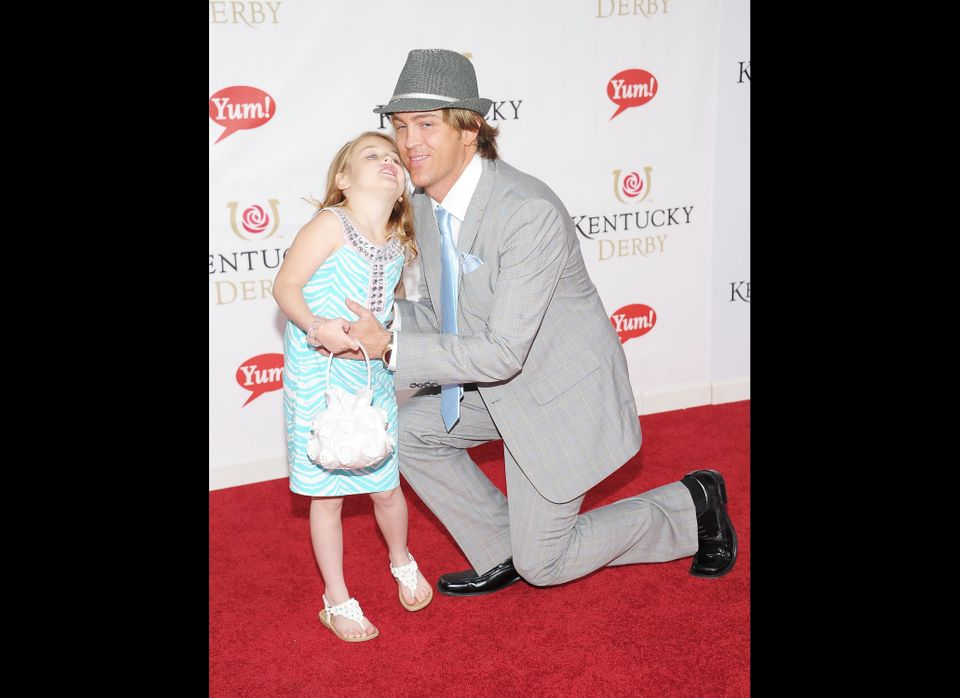 LOUISVILLE, KY - MAY 07:  Photographer Larry Birkhead and daughter Dannielynn Birkhead attend the 137th Kentucky Derby at Chu
