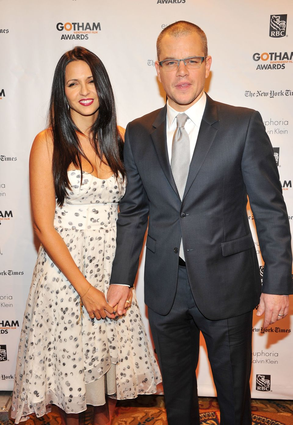 Matt Damon and Luciana Barroso, a former bartender, married in 2005 and have four daughters together (one is Barroso's from a