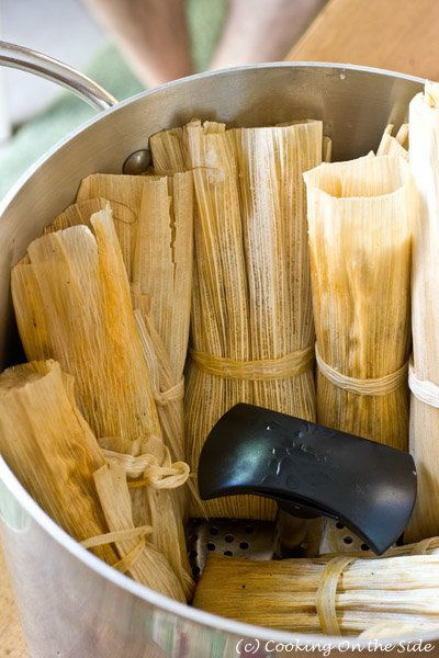 "<strong>Get the <a href=""http://cookingontheside.com/tamales/"">Classic Pork Tamales recipe from Cooking On The Side</a></stro"