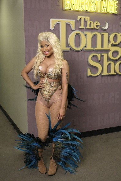 WTF is a nude, sequined jumpsuit doing on this planet?  The Tonight Show With Jay Leno, July 13th Photo Credit: Getty Imag