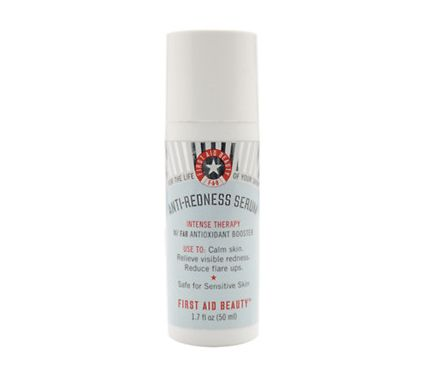 """<a href=""""http://www.firstaidbeauty.com/categories/shop-by-product/antirednessserum.html"""">First Aid Beauty</a>"""