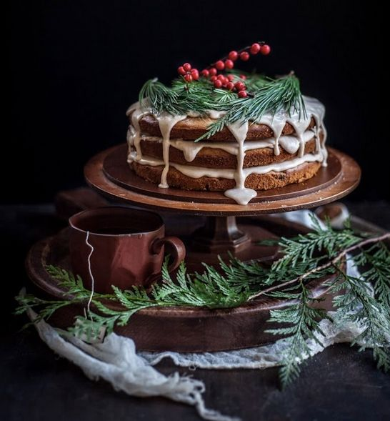 """<strong>Get the <a href=""""http://www.adventures-in-cooking.com/2013/12/a-christmas-cake-date-honey-cake-with.html"""" target=""""_bl"""