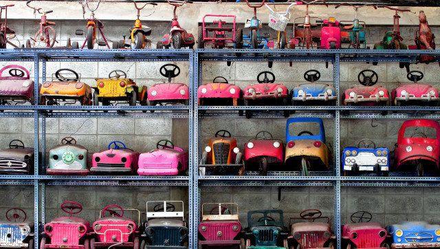 background of little cars model