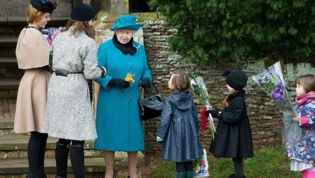 its a very royal christmas over at sandringham where the british royal family spent the morning at st mary magdalene church a cheery queen elizabeth ii