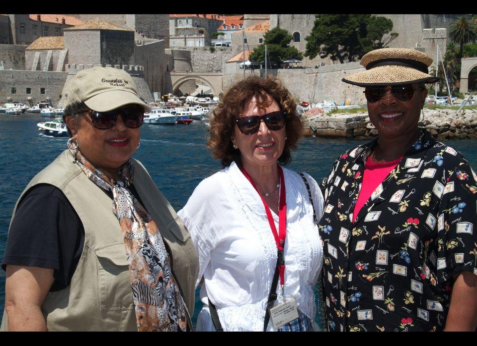 Enjoying the sites of Dubrovnik with our tour guide Maja.   (Photo courtesy Grannies on Safari/David Fraser)