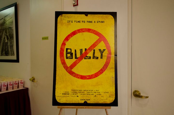WASHINGTON, DC - MARCH 15: A photo of a billboard of the documentary 'Bully' at MPAA on March 15, 2012 in Washington, DC. (Ph