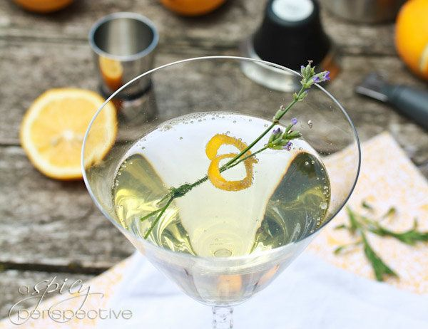 "<strong>Get the <a href=""http://www.aspicyperspective.com/2012/06/tom-collins-cocktail.html"">Lavender Meyer Lemon Tom Collins"