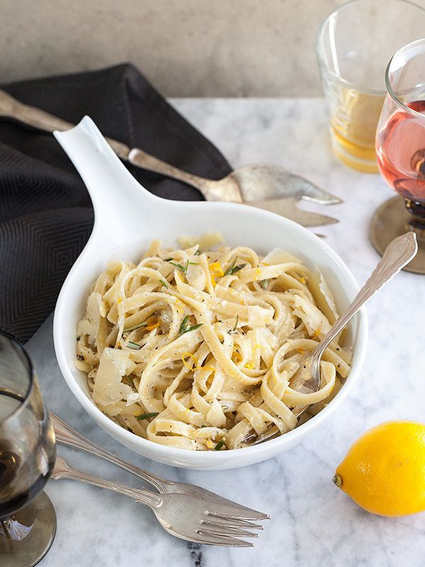"<strong>Get the <a href=""http://www.foodiecrush.com/2013/02/meyer-lemon-fettucine-and-10-favorite-lemon-recipes/"" target=""_bl"