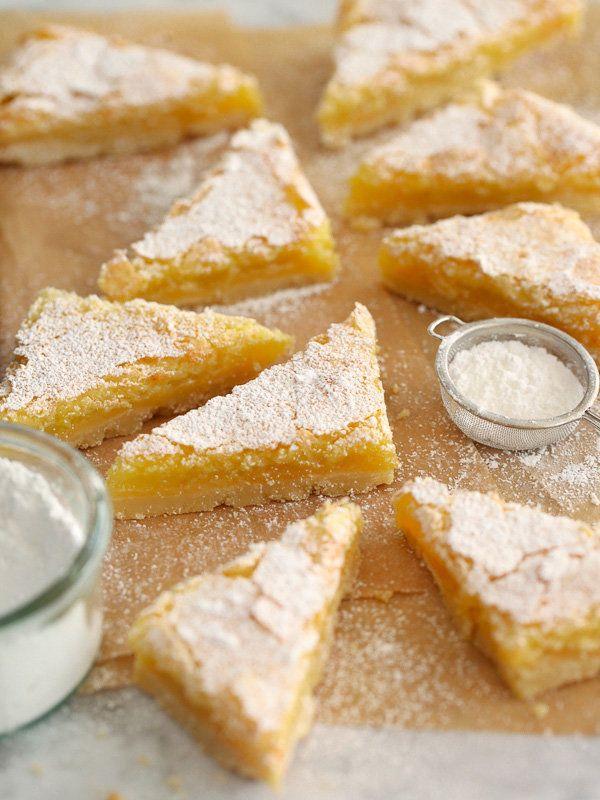 "<strong>Get the <a href=""http://www.foodiecrush.com/2013/12/meyer-lemon-bars/"" target=""_blank"">Meyer Lemon Bars recipe from F"