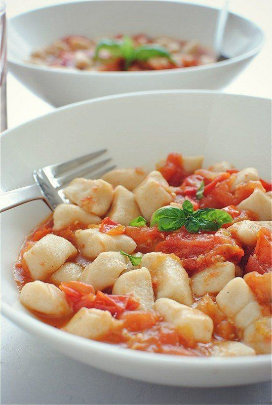 """<strong>Get the <a href=""""http://bevcooks.com/2012/07/homemade-gnocchi-with-a-roasted-tomato-sauce/"""" target=""""_blank"""">Gnocchi w"""