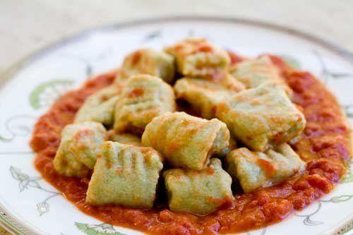 """<strong>Get the <a href=""""http://www.simplyrecipes.com/recipes/spinach_ricotta_gnocchi/"""">Spinach Ricotta Gnocchi recipe</a> fr"""