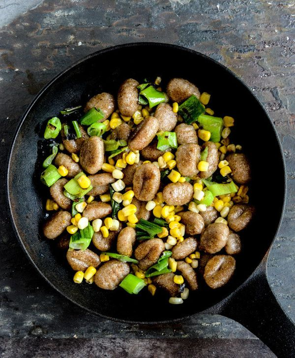 """<strong>Get the <a href=""""http://www.howsweeteats.com/2013/09/pan-toasted-brown-butter-gnocchi-with-sweet-corn-grilled-scallio"""