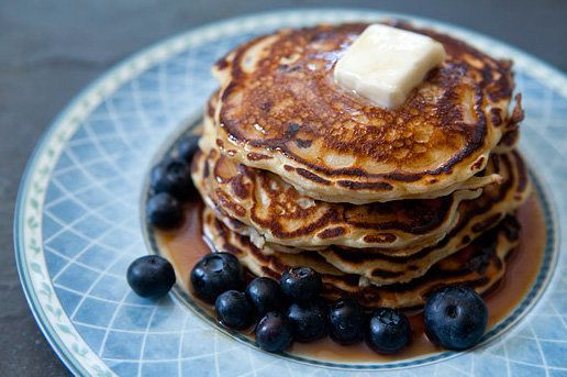 """<strong>Get the <a href=""""http://www.simplyrecipes.com/recipes/blueberry_buttermilk_pancakes/"""" target=""""_blank"""">Blueberry Butte"""