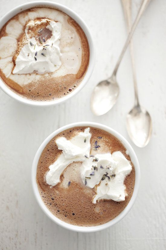 """<strong>Get the <a href=""""http://www.alamodejournals.com/index.php/2010/03/hot-for-chocolate/"""">Lavender Hot Chocolate recipe</"""