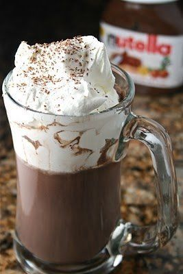 """<strong>Get the <a href=""""http://www.thehungryhousewife.com/2010/12/nutella-hot-chocolate.html"""">Nutella Hot Chocolate recipe</"""