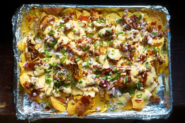 """<strong>Get the <a href=""""http://food52.com/recipes/30043-memphis-style-pulled-pork-nachos"""" target=""""_blank"""">Memphis-Style Pull"""