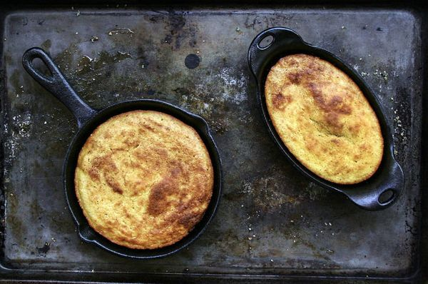 "<strong>Get the <a href=""http://food52.com/recipes/24670-buttermilk-bacon-grease-cornbread"" target=""_blank"">Buttermilk Bacon"