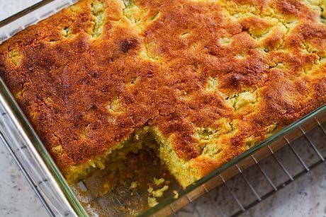 "<strong>Get the <a href=""http://www.simplyrecipes.com/recipes/green_chile_cornbread/"">Green Chile Cornbread recipe</a> by Sim"