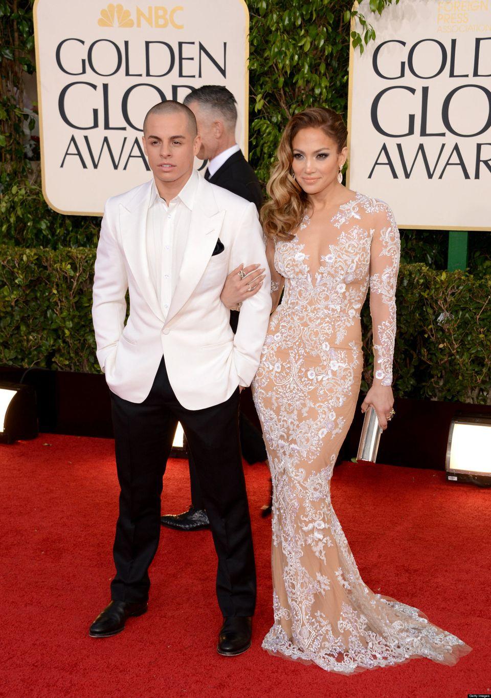 """Golden Globe presenter Jennifer Lopez, whose ex Marc Anthony <a href=""""http://www.huffingtonpost.com/2012/04/11/jennifer-lopez"""