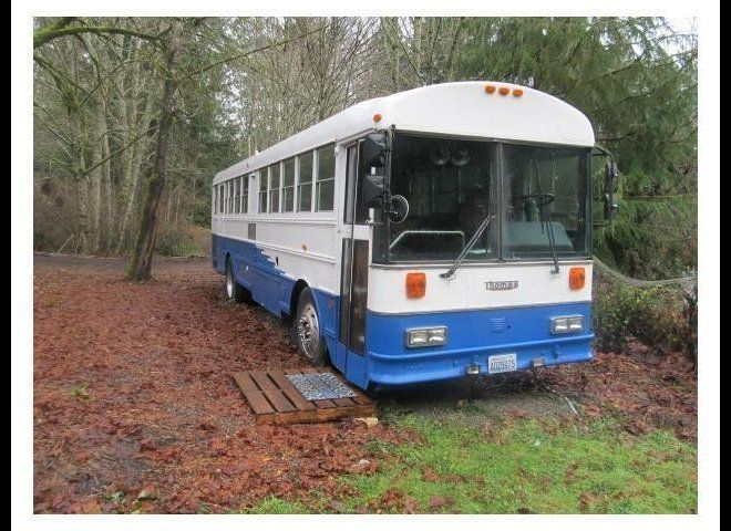 Thomas School Bus Converted Into Tiny Home Is A New Way Of Living