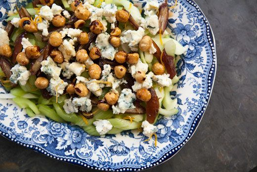 "<strong>Get the <a href=""http://www.simplyrecipes.com/recipes/celery_blue_cheese_and_hazelnut_salad/"">Celery, Blue Cheese and"