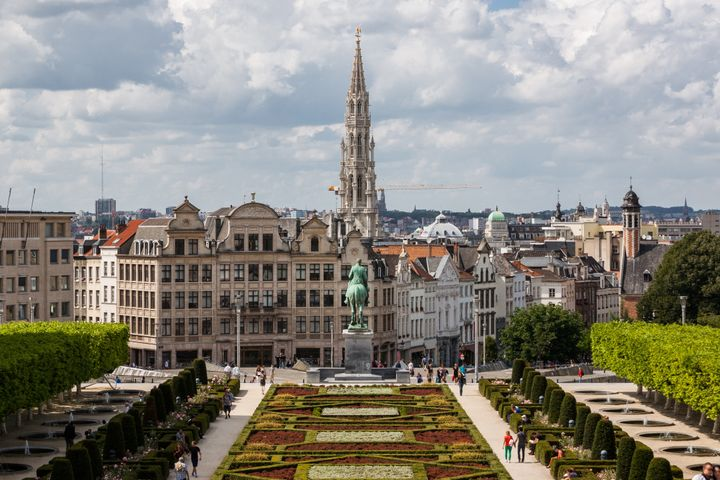 cityscape of brussels from...