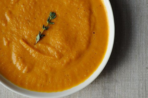 "<strong>Get the <a href=""http://food52.com/recipes/9743-roasted-carrot-soup"" target=""_blank"">Roasted Carrot Soup recipe from"