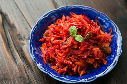 "<strong>Get the <a href=""http://www.simplyrecipes.com/recipes/moroccan_grated_carrot_and_beet_salad/"">Moroccan Grated Carrot"