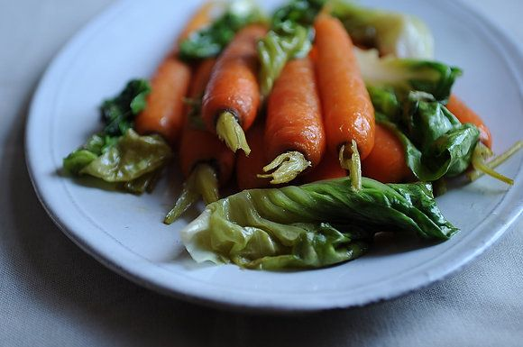 "<strong>Get the <a href=""http://food52.com/recipes/9835-glazed-carrots-with-braised-bibb-lettuce"" target=""_blank"">Glazed Carr"