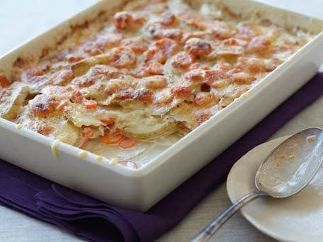 "<strong>Get the <a href=""http://www.huffingtonpost.com/2011/10/27/potato-and-carrot-gratin_n_1060888.html"">Potato and Carrot"