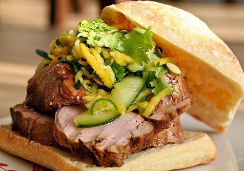 "<strong>Get the <a href=""http://food52.com/recipes/4826-pork-sandwich-w-spicy-mango-cucumber-slaw"" target=""_blank"">Pork Sandw"