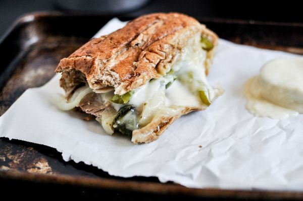 """<strong>Get the <a href=""""http://www.howsweeteats.com/2012/09/homemade-chicken-cheesesteaks/"""" target=""""_blank"""">Chicken Cheesest"""