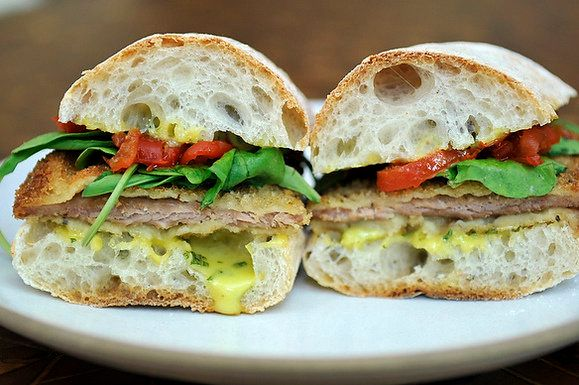 """<strong>Get the <a href=""""http://food52.com/recipes/5095-pork-cutlet-sandwiches-with-basil-aioli"""" target=""""_blank"""">Pork Cutlet"""