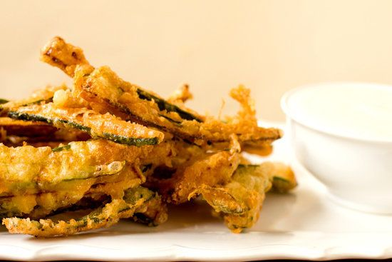 """<strong>Get the <a href=""""http://www.browneyedbaker.com/2012/08/13/beer-battered-zucchini-fries/"""">Beer-Battered Zucchini Fries"""