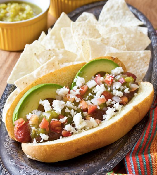 """<strong>Get the <a href=""""http://www.aspicyperspective.com/2013/07/hot-dog-recipe-mole-recipe.html"""" target=""""_blank"""">Green Chil"""