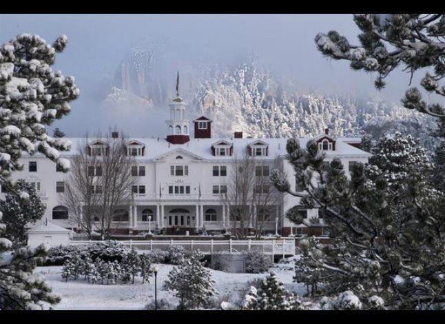 The Stanley is located in Estes Park, CO., a city surrounded by Rocky Mountain National Park. After a day skiing, snowshoeing