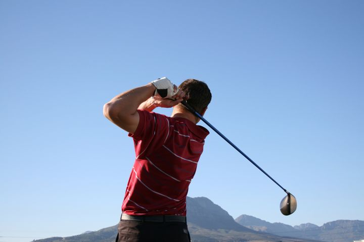 golfer shot with a driver...