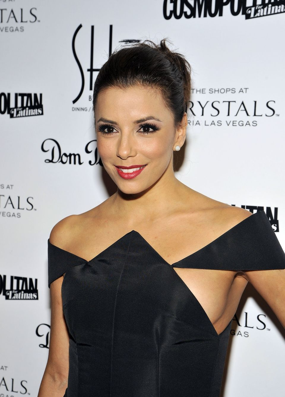 Longoria attended a restaurant opening in Las Vegas, where she put sideboob on the menu.