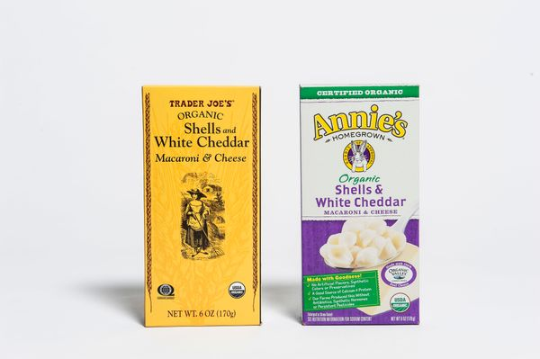 <b>Pricing:</b> Trader Joe's $1.49, Annie's $3.29<br><br><b>Tasting notes:</b> There's no denying this one. From the packagin