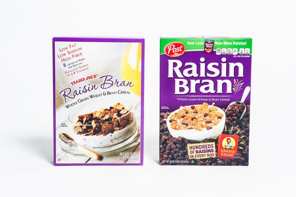 <b>Pricing:</b> Trader Joe's $2.99, Post $5.49<br><br><b>Tasting notes:</b> There is no question that these two products look