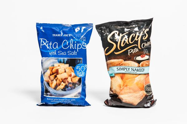 <b>Pricing:</b> Trader Joe's $1.99, Stacy's $3.99<br><br><b>Tasting notes:</b> There is absolutely no question here. We're no