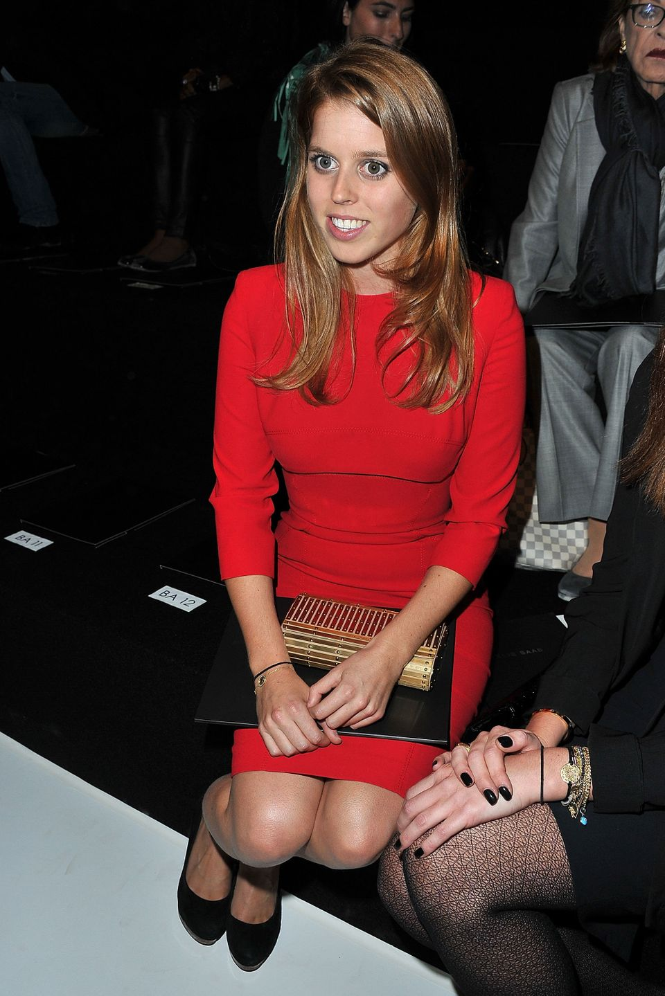 At the Elie Saab spring 2012 runway show during Paris Fashion Week.
