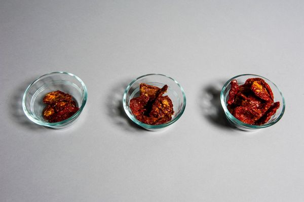 Via Roma Sun-Dried Tomato Halves <br> What could be bad about tomatoes? In this concentrated form, the small, dried halves ar