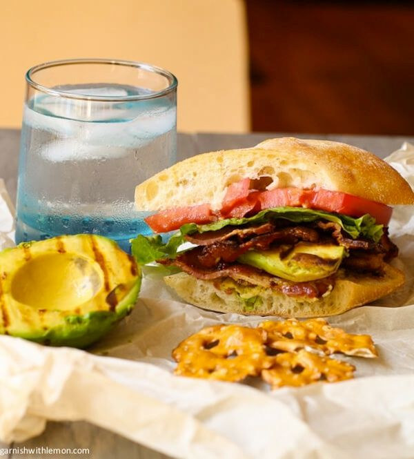 """<strong>Get the <a href=""""http://www.garnishwithlemon.com/blt-with-grilled-avocado/"""">BLT With Grilled Avocado</a> from Garnish"""