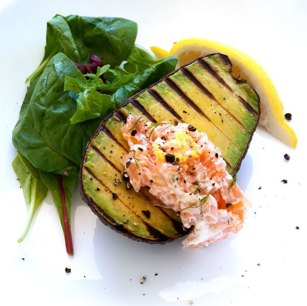 """<strong>Get the <a href=""""http://www.sprinklesandsprouts.com.au/grilled-avocado-smoked-salmon-cream/"""">Grilled Avocado With Smo"""